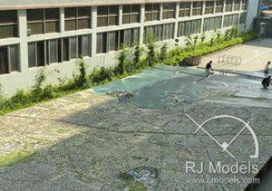 700 m2 Doha Şehir Plan Maketi