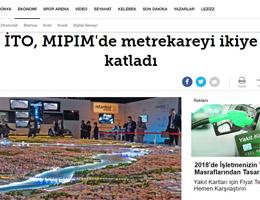 Hürriyet - İTO, MIPIM'de metrekareyi ikiye katladı