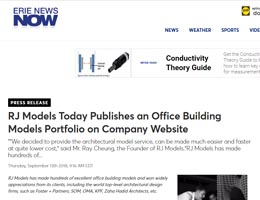 RJ Models Today Publishes an Office Building Models Portfolio on Company Website