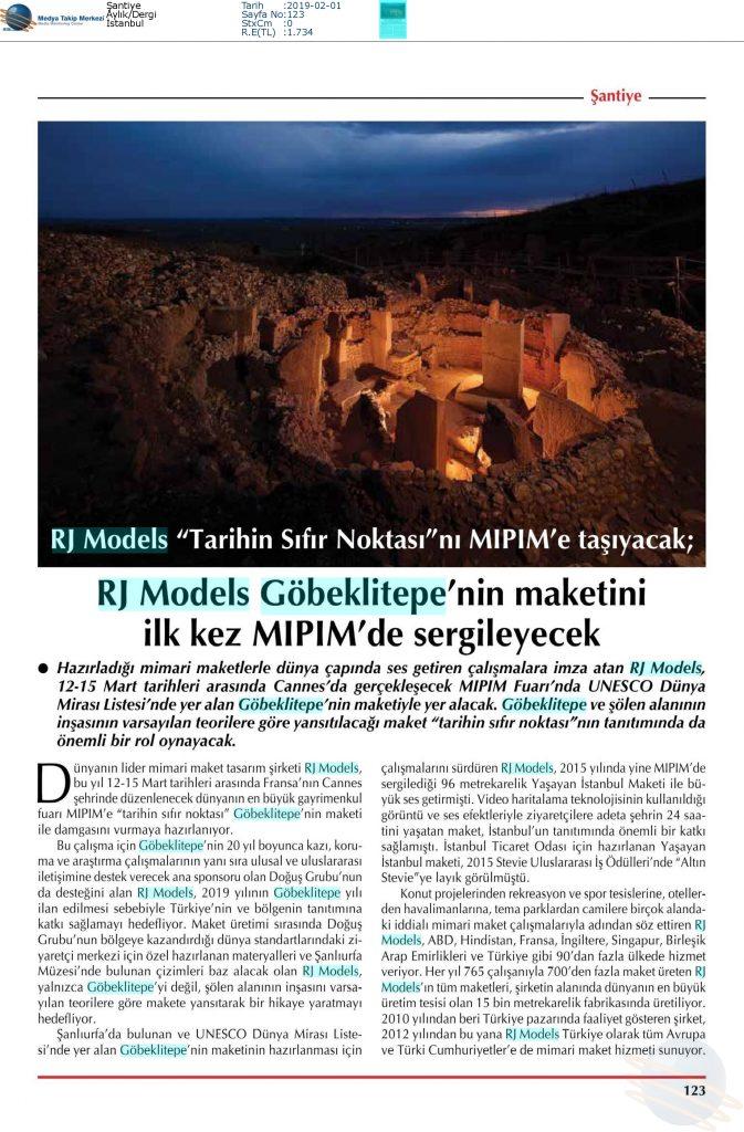 Şantiye - Göbeklitepenin Maketi Mipim'de Sergilenecek