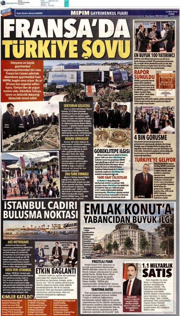 Posta - Fransa'da Türkiye Şovu