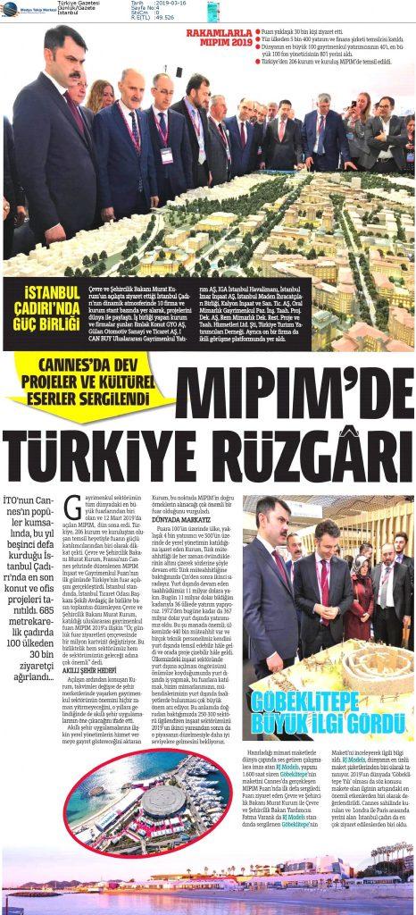 Türkiye Gazetesi - Mipim'de Türkiye Rüzgarı