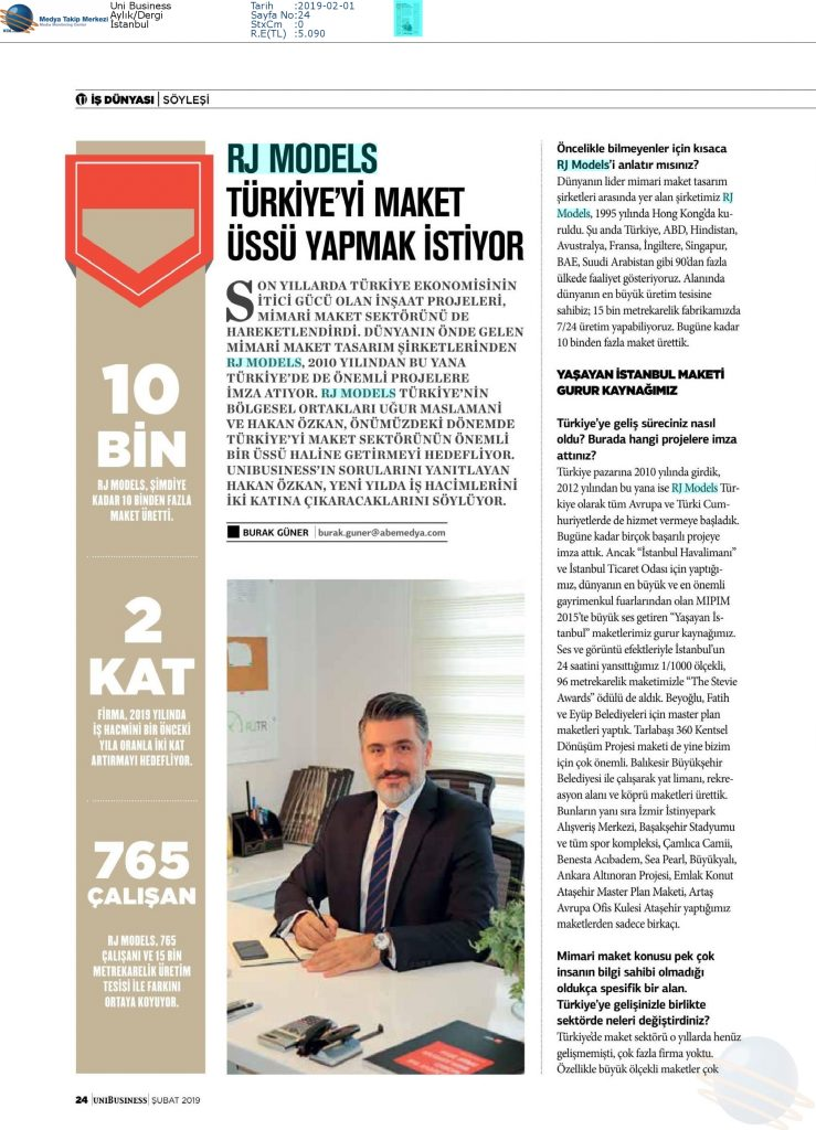 Uni Buisness - Rj Models Türkiye'yi Model Üssü Yapmak İstiyor